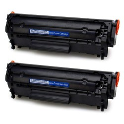 Pack 2 Toner HP Q2612A...